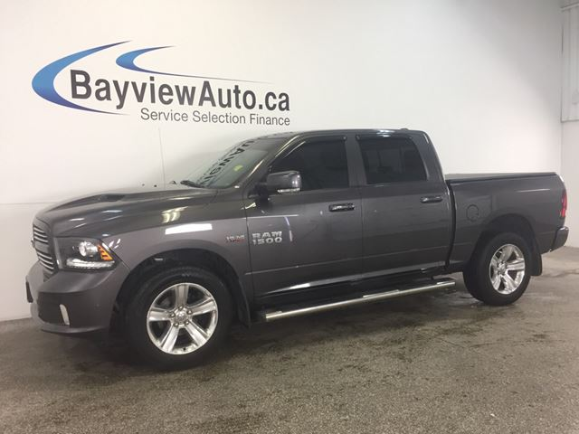 2014 Dodge RAM 1500 SPORT -HEMI! H&C LEATHER! NAV! REV CAM! CRUISE!  in Belleville, Ontario