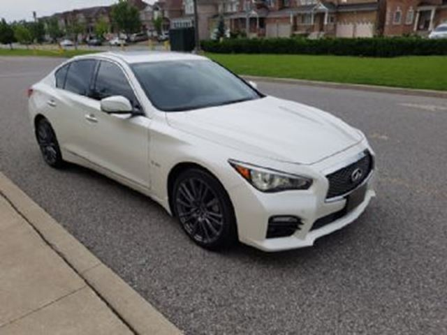 2016 INFINITI Q50 Red Sport 400 Twin Turbo Driver Assistance & Tech Package in Mississauga, Ontario