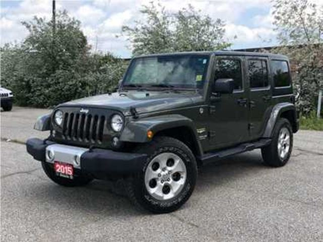 2015 JEEP WRANGLER Unlimited SAHARA**NAVIGATION**BLUETOOTH**REMOTE START** in Mississauga, Ontario