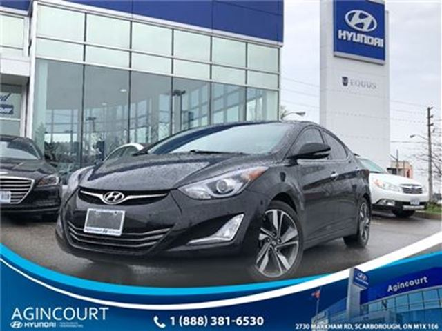 2015 HYUNDAI Elantra Limited/NAVI/LEATHER/SUNROOF/ONLY 26804KMS in Toronto, Ontario