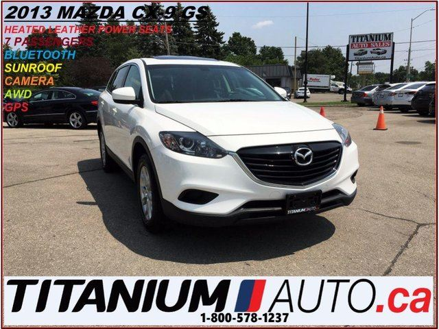 2013 MAZDA CX-9 AWD+Camera+GPS+Leather Heated Seats+Sunroof+BlueTo in London, Ontario