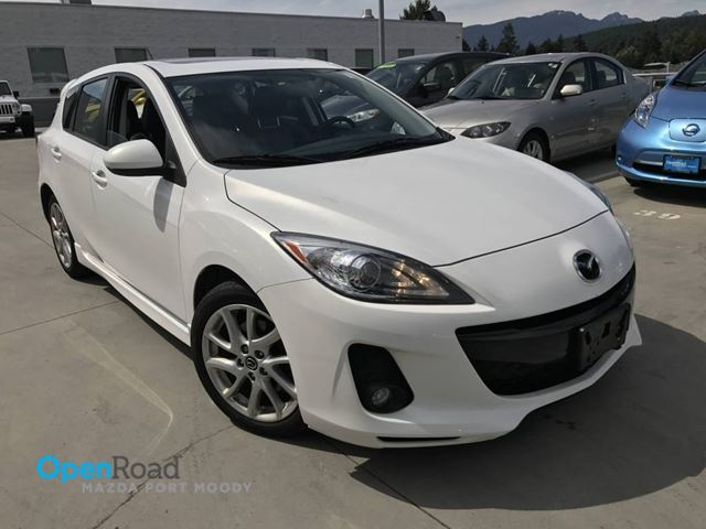 2013 MAZDA MAZDA3 GT HB A/T Local Bluetooth AUX Navi Lether Sunro in Port Moody, British Columbia