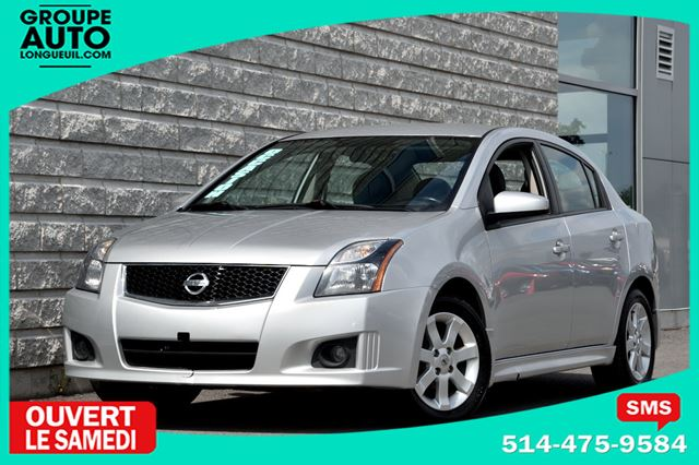 2012 Nissan Sentra *SR*AUTOM*A/C*MAGS*AILERON*SILVER*BAS KILO* in Longueuil, Quebec