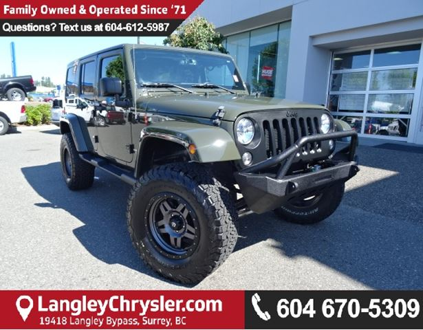 2016 Jeep Wrangler Unlimited Sahara in Surrey, British Columbia