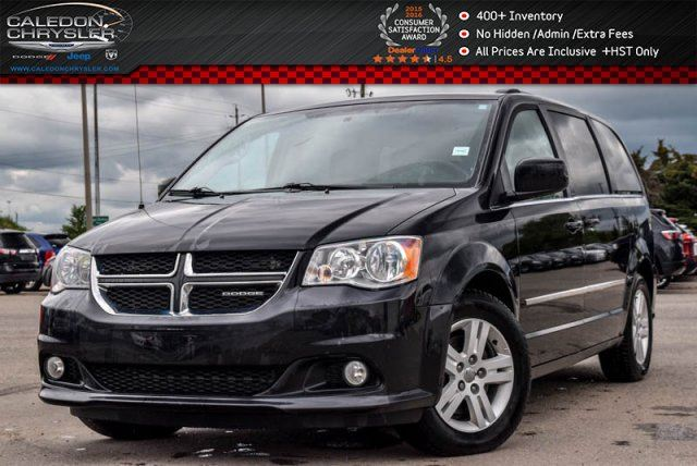 2012 Dodge Grand Caravan Crew Plus DVD Backup Cam Bluetooth Pwr Sliding doors & Liftgate 17alloy Rims in Bolton, Ontario