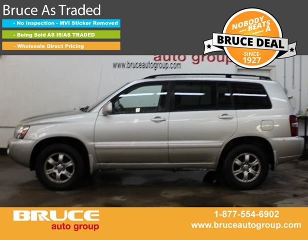 2005 TOYOTA HIGHLANDER 3.3L 6 CYL AUTOMATIC 4WD in Middleton, Nova Scotia