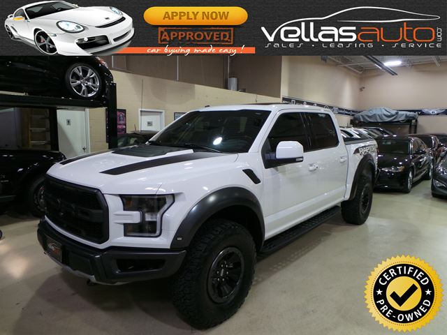2017 Ford F-150 Raptor SVT RAPTOR| SUPERCREW| 4X4| OXFORD WHITE in Vaughan, Ontario