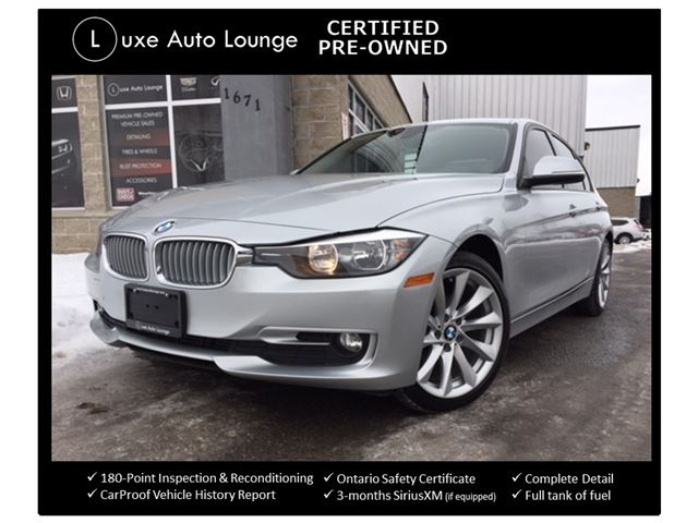 2013 BMW 3 Series 320i xDrive - CERTIFIED PRE-OWNED! BALANCE OF BMW WARRANTY! DAKOTA LEATHER, SUNROOF, LOADED! in Orleans, Ontario