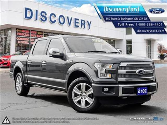 2015 Ford F-150 Platinum CC 4X4 in Burlington, Ontario