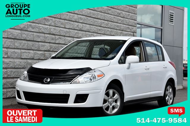 2010 Nissan Versa *SL*AUTOM*A/C*MAGS*BLANC* in Longueuil, Quebec