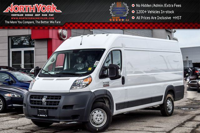 2017 RAM PROMASTER New Car High Roof Extended 159 Backup_Cam RrPrkngSnsrs  in Thornhill, Ontario