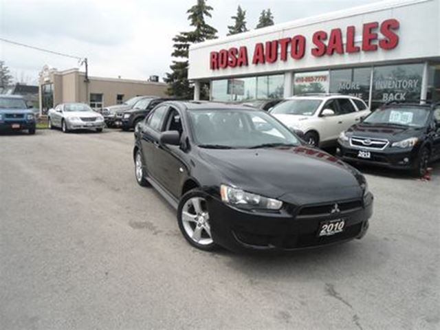 2010 MITSUBISHI LANCER 4dr Sdn CVT AUTO ALLOY PW PL PM A/C KEYLESS SAFETY in Oakville, Ontario