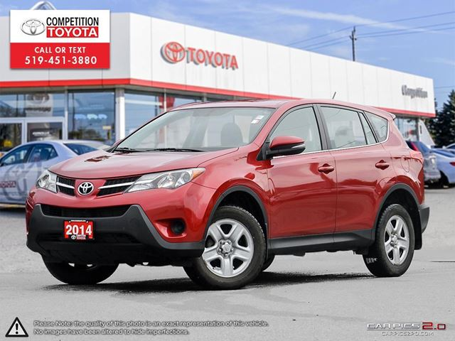 2014 TOYOTA RAV4 LE One Owner, No Accidents in London, Ontario