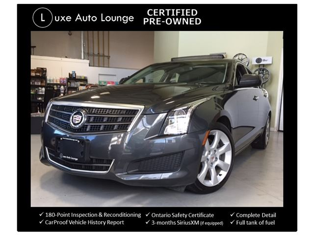 2014 Cadillac ATS 2.0L TURBO 6SPD!! ONLY 49,000KM! BALANCE OF CADILLAC WARRANTY! CUE WITH BOSE SURROUND SOUND, SUNROOF, CERTIFIED PRE-OWNED! in Orleans, Ontario