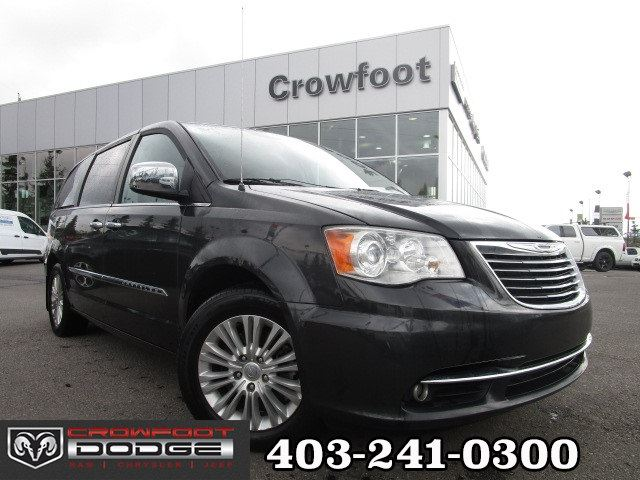 2012 CHRYSLER TOWN AND COUNTRY LIMITED WITH LEATHER & DVD in Calgary, Alberta