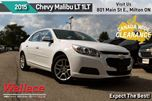 2015 Chevrolet Malibu LT 1LT/CLEAN HSTRY/SUNROOF/BACKUP CAMERA/RMT START in Milton, Ontario