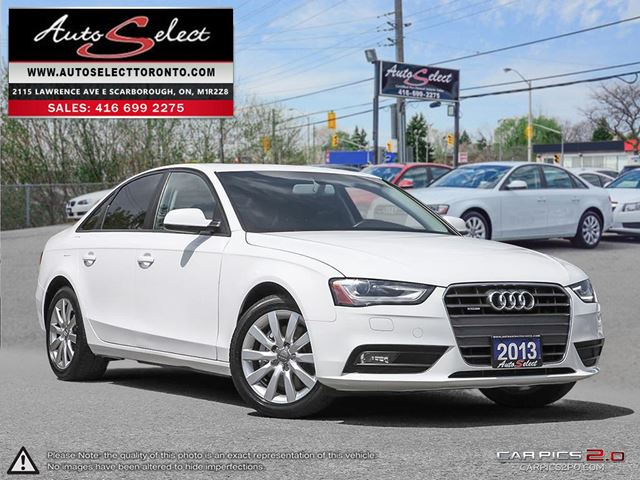 2013 AUDI A4 Quattro AWD ONLY 77K! **LED LIGHTING PKG** CLEAN CARPROOF in Scarborough, Ontario