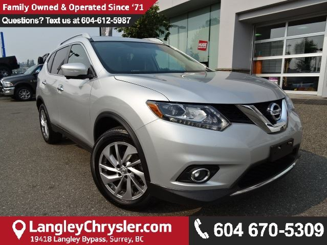 2015 NISSAN ROGUE SL *ACCIDENT FREE*ONE OWNER*LOCAL BC CAR* in Surrey, British Columbia