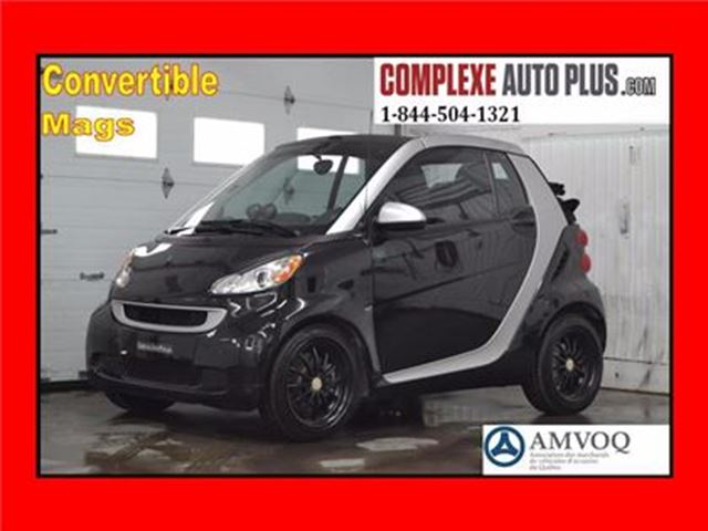 2011 Smart Fortwo Cabriolet Brabus Style *TURBO, Exhaust centrale, M in Saint-Jerome, Quebec