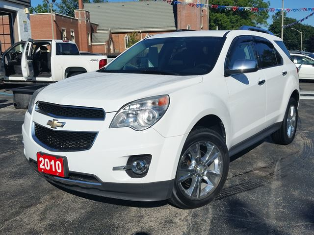 2010 Chevrolet Equinox LTZ,AWD,V6,,LEATHER,SUNROOF,NAVIGATION,CHROME WHEELS,DUAL DVD's,NEW TIRES,WARRANTY in Dunnville, Ontario
