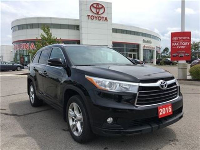2015 Toyota Highlander Limited - Toyota Certified, New Front Brakes, Full in Stouffville, Ontario