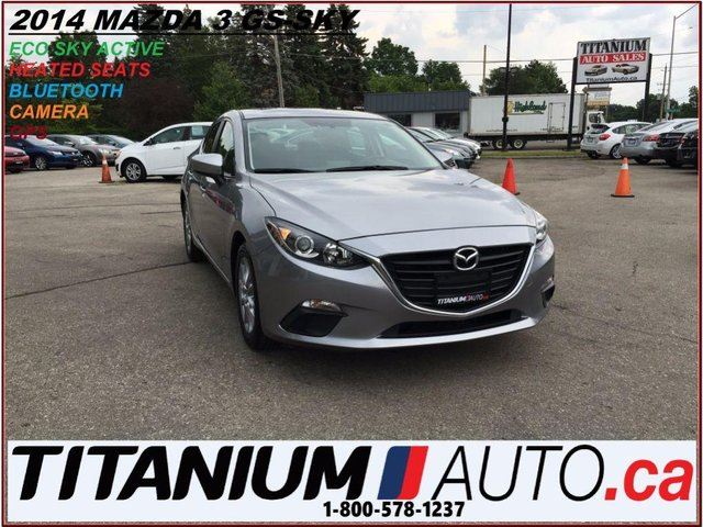 2014 MAZDA MAZDA3 GS-SKY+GPS+Camera+Heated Seats+BlueTooth+Sky Activ in London, Ontario