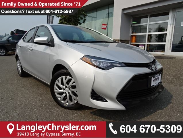 2017 TOYOTA COROLLA LE *ONE OWNER*LOCAL BC CAR* in Surrey, British Columbia