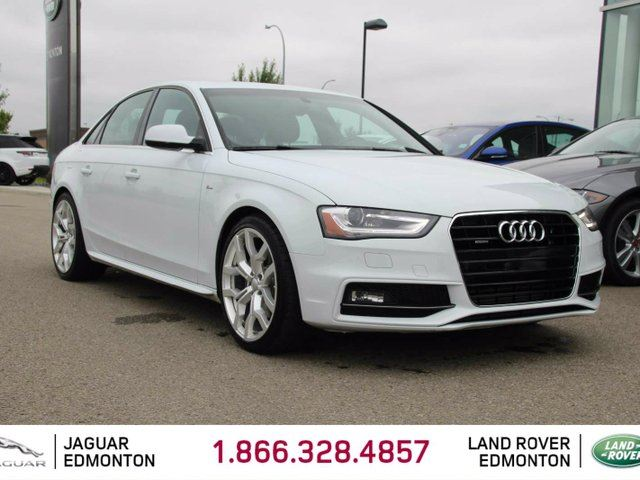 2015 AUDI A4 2.0T Technik quattro AWD S-Line - Local One Owner Trade In | No Accidents | 3M Protection Applied | Heated Leather Seats | Dual Zone Climate Control with AC | Power Sunroof | 19 Inch Wheels | Blind Spot Monitor | Bang and Olufsen Audio | Memory Seat  in Edmonton, Alberta