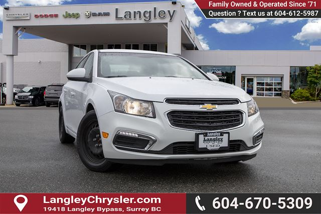 2015 CHEVROLET CRUZE 1LT *AFFORDABLE*GREAT ON GAS*CLEAN in Surrey, British Columbia