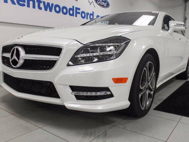 2014 MERCEDES-BENZ CLS-CLASS CLS 550 4MATIC- NAV, sunroof, heated and cooled seats with a drivers massage chair too! Now that's a car! in Edmonton, Alberta