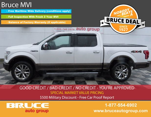 2015 FORD F-150 LARIAT 5.0L 8 CYL AUTOMATIC 4X4 SUPERCREW in Middleton, Nova Scotia