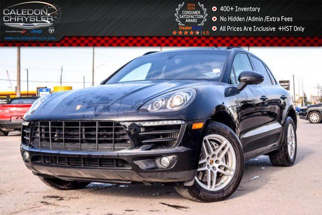 2016 PORSCHE MACAN S AWD Pano Sunroof Backup Cam Bluetooth Leather Heated Seats 18Alloy Rims in Bolton, Ontario
