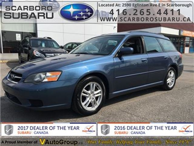 2005 SUBARU LEGACY 2.5 i, SOLD CERTIFIED, BODY IN GOOD SHAPE !!!! in Scarborough, Ontario