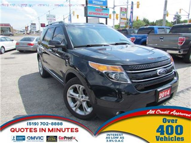 2014 FORD EXPLORER LIMITED   4X4   LEATHER   NAV   PANO ROOF in London, Ontario