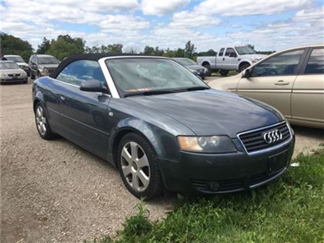 2003 AUDI A4 1.8T   Convertible in Brantford, Ontario