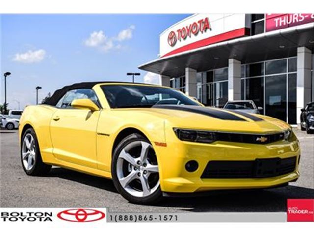 2015 Chevrolet Camaro Convertible 2LT Mint, Navi, Leather, no Accidents in Bolton, Ontario