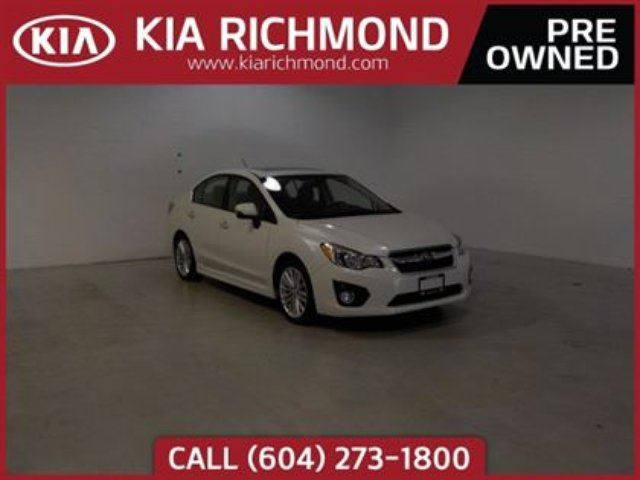 2013 SUBARU IMPREZA 2.0i w/Limited Pkg in Richmond, British Columbia
