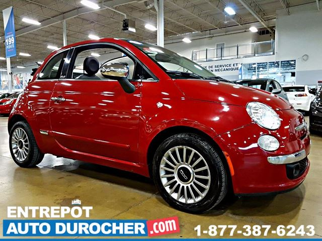 2013 FIAT 500 AUTOMATIQUE - Dn++CAPOTABLE - AIR CLIMATISn++ - CUIR in Laval, Quebec