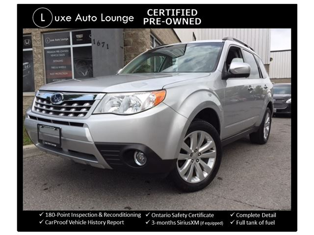 2011 Subaru Forester 2.5 X Touring - PANORAMIC SUNROOF, LEATHER, HEATED SEATS, 5-SPEED!! SUPER RARE!! LUXE CERTIFIED SELECT PRE-OWNED! in Orleans, Ontario