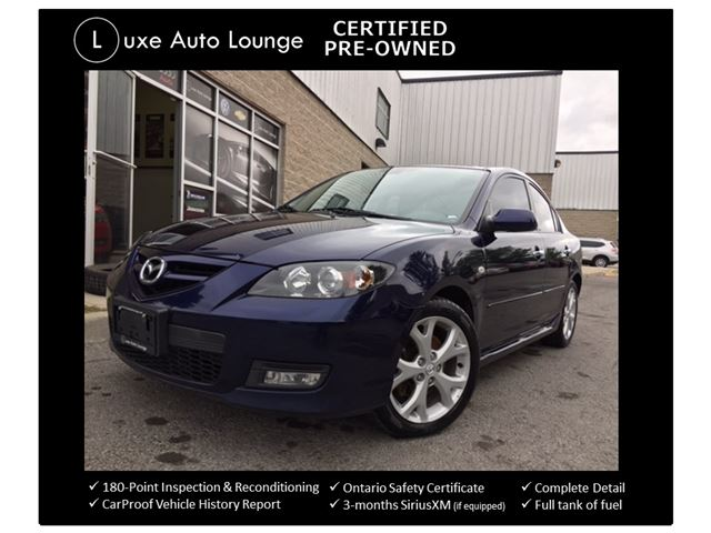 2009 Mazda MAZDA3 GT - LUXURY PKG, LEATHER, BOSE AUDIO, XENON LIGHTS, SUNROOF, SATELLITE RADIO, LUXE CERTIFIED SELECT PRE-OWNED! in Orleans, Ontario