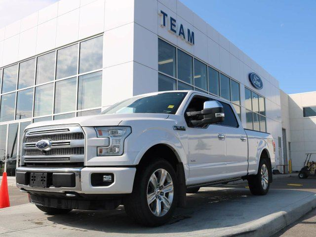 2015 FORD F-150 Platinum, 3.5L Ecoboost, 6.5' Box, Tech Package, Max Trailer, Adaptive Cruise in Edmonton, Alberta