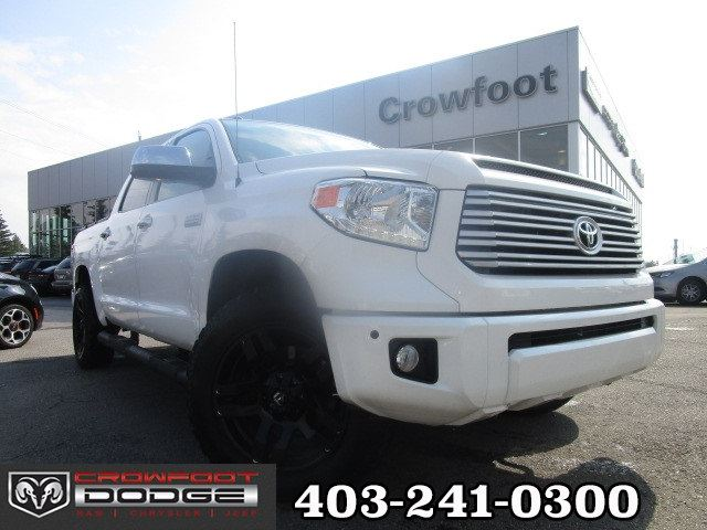 2014 TOYOTA TUNDRA PLATINUM 5.7L V8 CREWMAX FULLY LOADED!! 4X4 in Calgary, Alberta