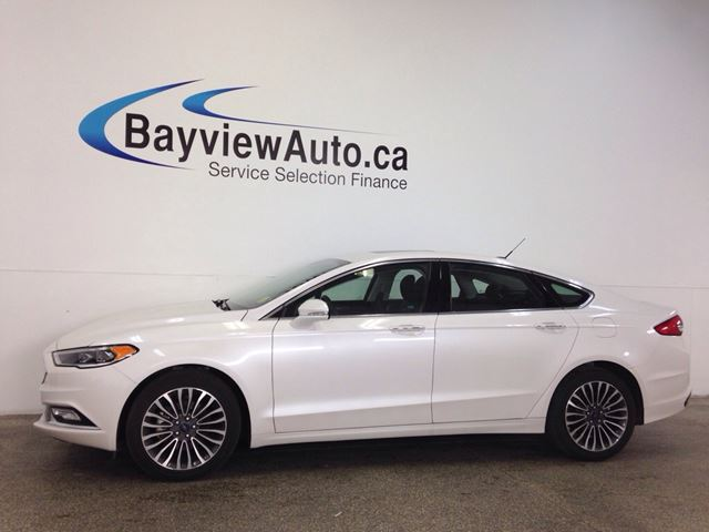 2017 FORD FUSION SE- AWD! REM START! ROOF! LEATHER! NAV! in Belleville, Ontario