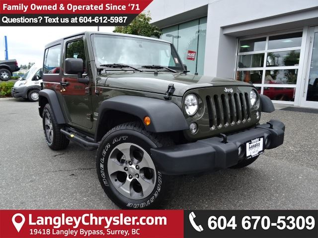 2015 JEEP WRANGLER Sport *ACCIDENT FREE*DEALER DEMO*LOCAL BC CAR* in Surrey, British Columbia