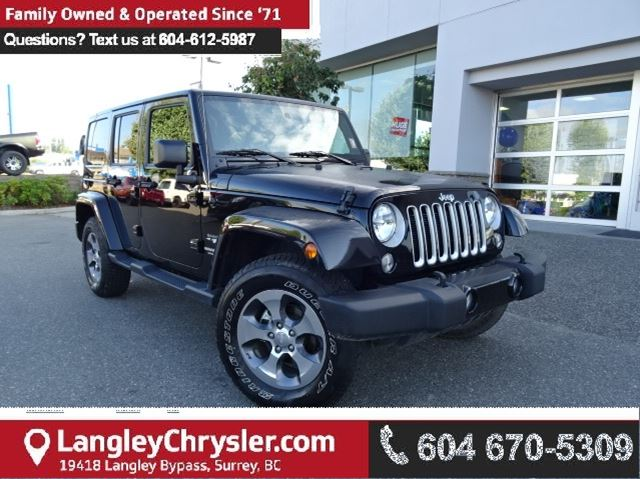 2016 JEEP WRANGLER Unlimited Sahara *ACCIDENT FREE * DEALER INSPECTED * CERTIFIED * in Surrey, British Columbia