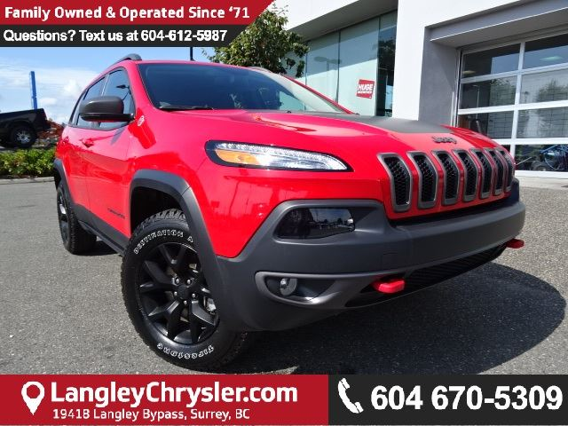 2017 JEEP CHEROKEE Trailhawk *ACCIDENT FREE*ONE OWNER* in Surrey, British Columbia