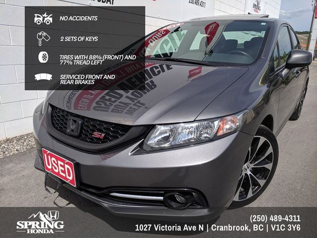 2013 Honda Civic Si $138 Bi-Weekly in Cranbrook, British Columbia