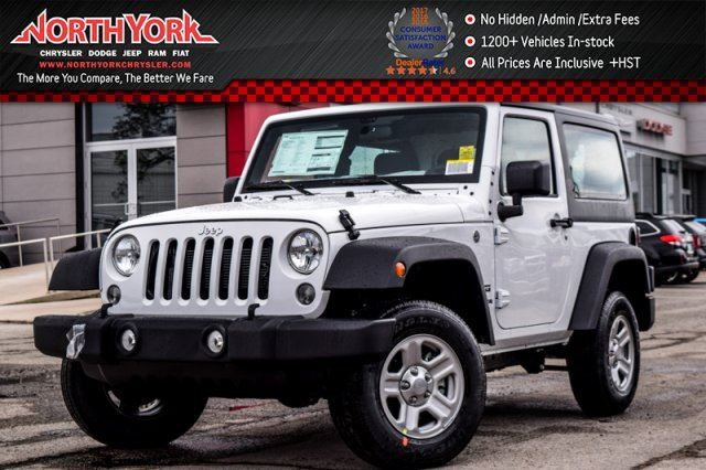 2017 JEEP WRANGLER New Car Sport  4x4 HardTop AC TractionCtrl ABS GREAT DEAL! in Thornhill, Ontario