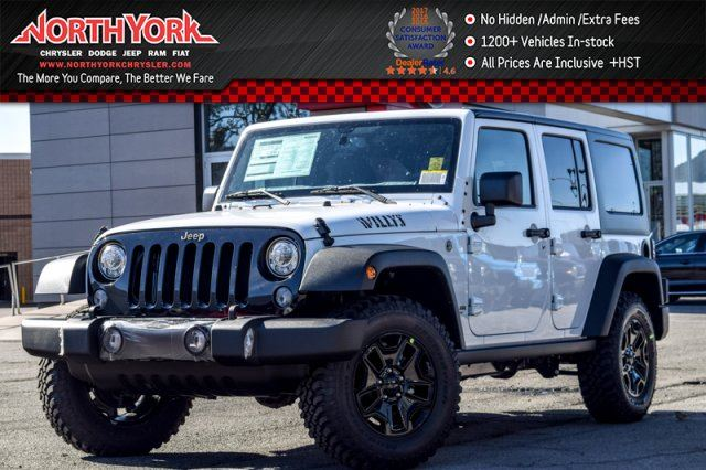 2017 JEEP WRANGLER Unlimited New Car Willy's Wheeler 4x4 LED,DualTopPkgs AlpineAudio  in Thornhill, Ontario
