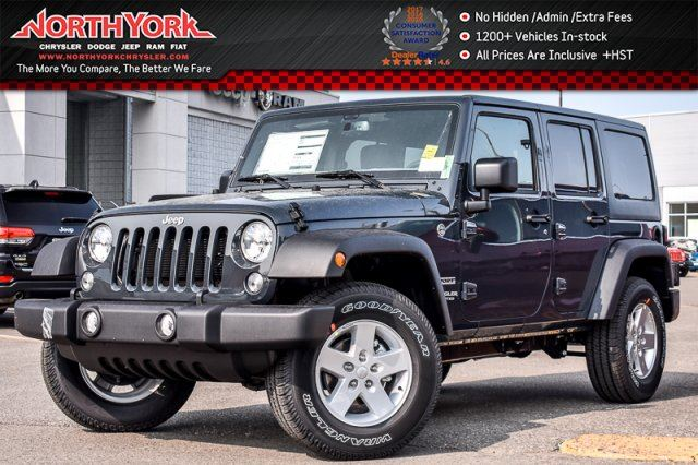 2017 JEEP WRANGLER Unlimited New Car Sport S  4x4 PwrConvi,Connect.Pkgs AC Sat.Radio 17Alloys  in Thornhill, Ontario